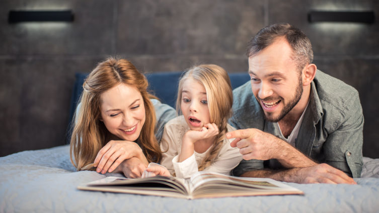 How does a modern child learn to love a book